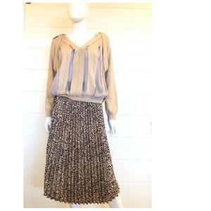 Wild Fable PLeated Midi skirt Leopard Print XS NEW